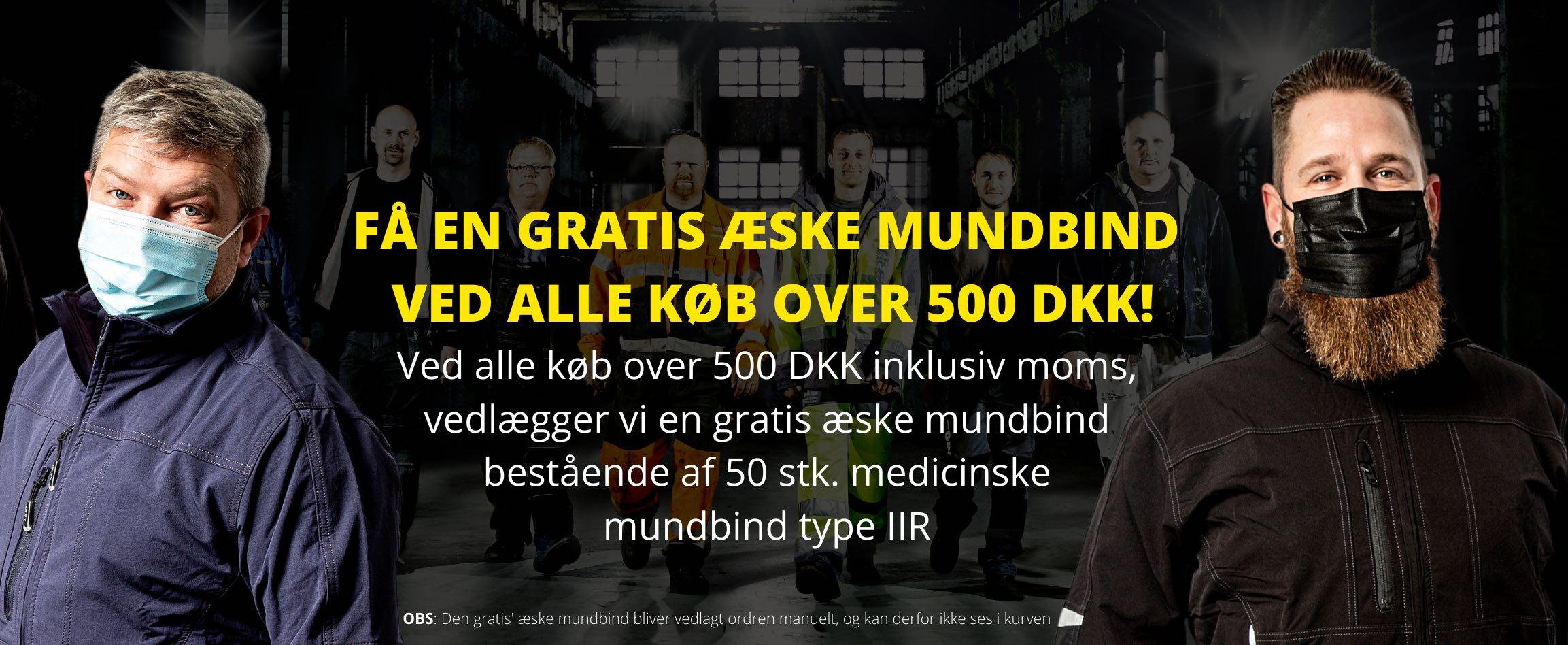 Gratis æske mundbind ved køb over 500 DKK